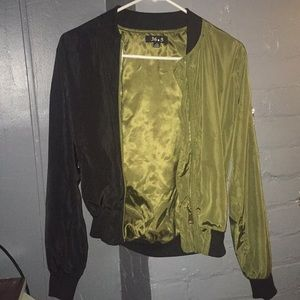 Bomber jacket green and black